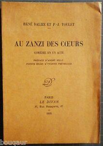 """Pierre-Jean TOULET & René DALIZE Au zanzi des coeurs E.O. 1931 N° Vélin Le DIVAN - France - Commentaires du vendeur : """"Voir la description dans la fiche"""" - France"""