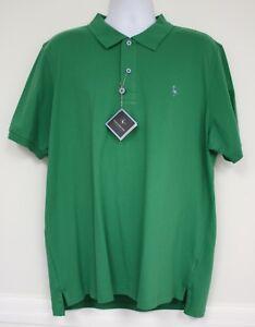 Tailorbyrd Mesh Green Polo Shirt Bird Logo Collar 2 Button Xxl
