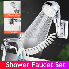 3 IN 1 Bathroom Sink Faucet Sprayer Set External Faucet Shower Clean Sprinkler B