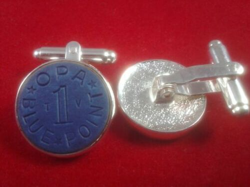 Cufflinks food ration tokens from the 1940/'s