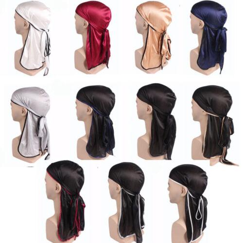 1x Men Women Silk Durag Cap Dorag Bandana Dew rag Doo rag Headwrap Headwear NEW