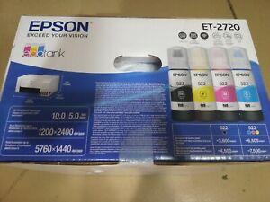 Brand New Epson Ecotank Et 2720 All In One Wireless Supertank Color Printer 10343948501 Ebay