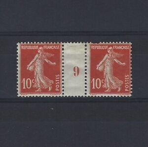 France-Yvert-n-138-Paire-millesime-9-neuf-avec-charniere