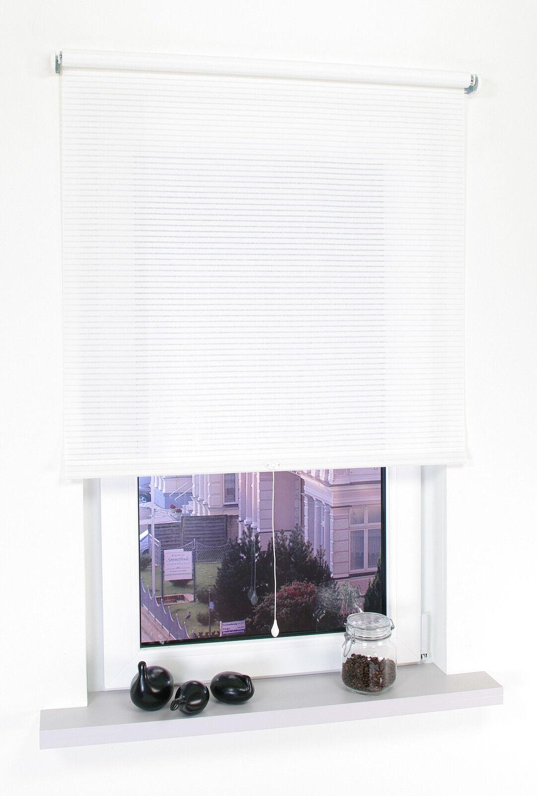 Springrollo Mittelzugrollo Schnapprollo Fenster Tür Rollo Mittelzug Altweiß Weiß