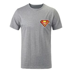 Simple-Style-Superman-Symbol-Design-Mens-T-Shirts-Casual-Print-Graphic-Tops-Tee