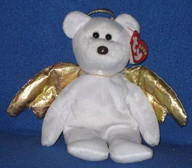 2000 Ty Beanie Baby Halo 2 II Angel Bear Beanbag Plush Has Tags for ... c2bd9a27ff4c
