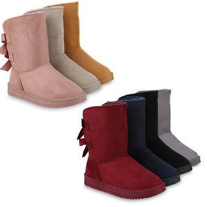 low priced 8b846 812ab Details zu Damen Stiefeletten Schlupfstiefel Warm Gefütterte Winter Stiefel  825121 Schuhe