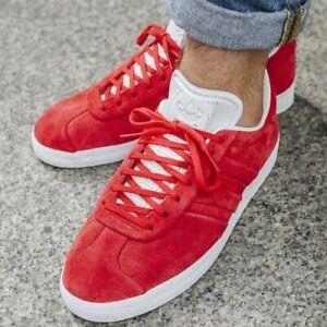 Adidas Mens Gazelle Stitch \u0026 Turn Red