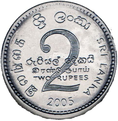 SRI LANKA 6-PC UNCIRCULATED COIN SET 0.02 TO 2 RUPEES