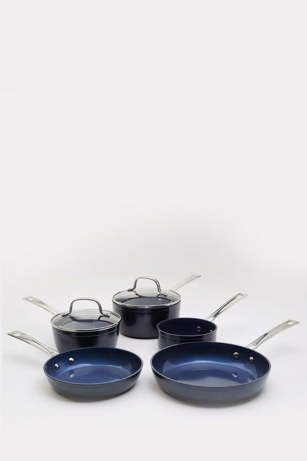 bluee 5-Piece Forged Pan Set