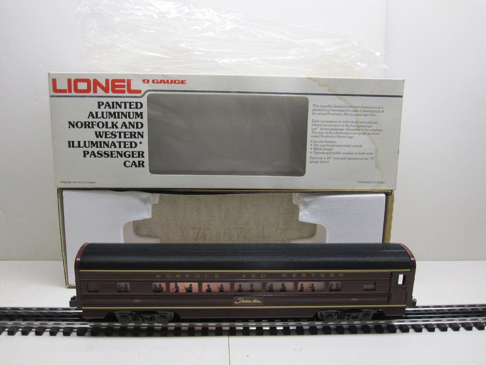 Lionel 69565 Norfolk e Western dipinto in tuttiuminio passeggero autorozza Scatola Originale