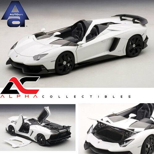 AUTOART 74674  1 18 LAMBORGHINI AVENTADOR J blanc SUPERvoiture DIECAST  top marque