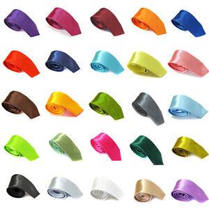 Cravate-FASHION-SLIM-Satinee-50-Couleurs-140cm-Neuf-Port-Gratuit