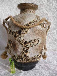 ungewöhnliche DÜMLER & BREIDEN Keramik Bodenvase FAT LAVA GERMANY Nr. 1108/36