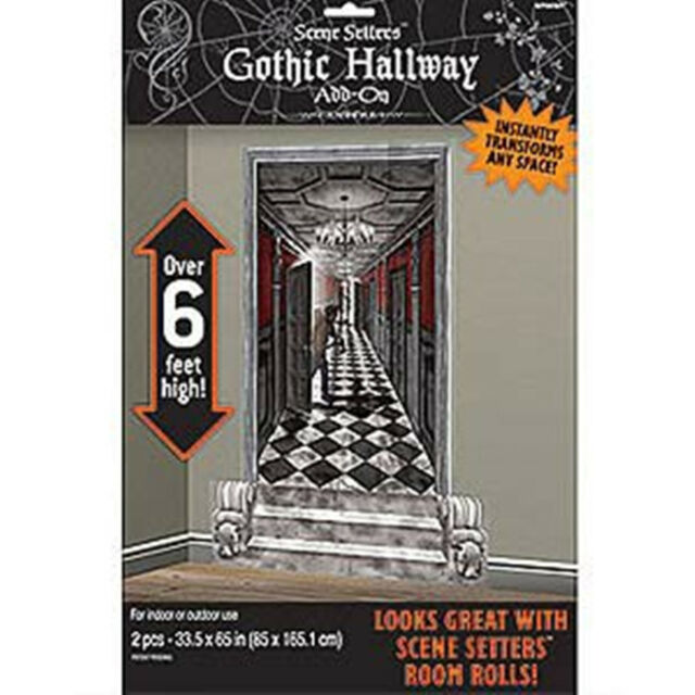 Scene Setter Cutouts Gothic Hallway 2pk A673031 Party Decoration Halloween Wall