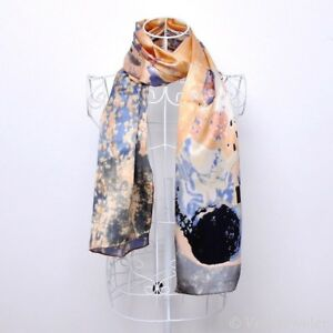 100-pure-silk-scarf-Gustav-Klimt-039-s-039-The-Kiss-039-160-x-42cm-Gift-wrapping-available