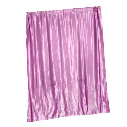 Satin Faux Silk Blackout Slot Top//Eyelet Ring Top Curtain Drape+Magnetic Tieback