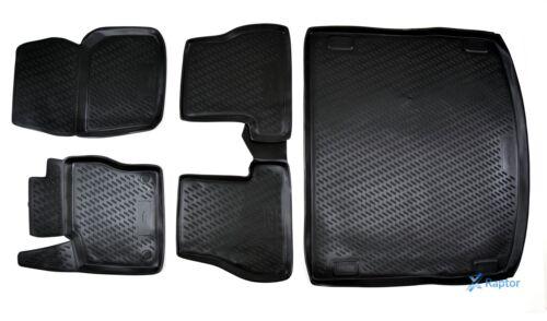 Exklusiv 3D TPE 5-tlg SET Gummimatten Kofferraumwanne Ford Focus Kombi 2011-15