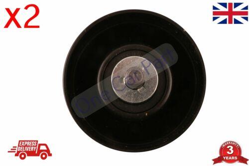 2 X Ventilador Tensor Correa De Polea Polea para caber Ford Transit 2000-2006 MK6 2.4 RWD
