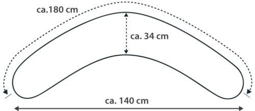 verschiedene Design Ersatzbezug für Theraline Komfortkissen 180 cm NEU