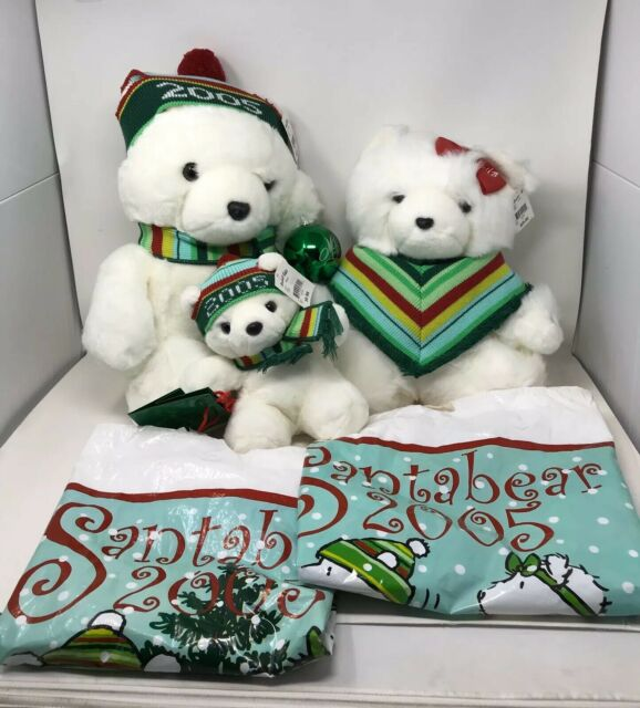 Mr and Mrs Santabear 2000 Daytons Marshall Fields Hudsons Collectible Bears