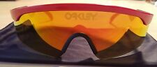 Oakley Heritage Collection Razor Blades Sunglasses Red/Fire Iridium OO 9140-14