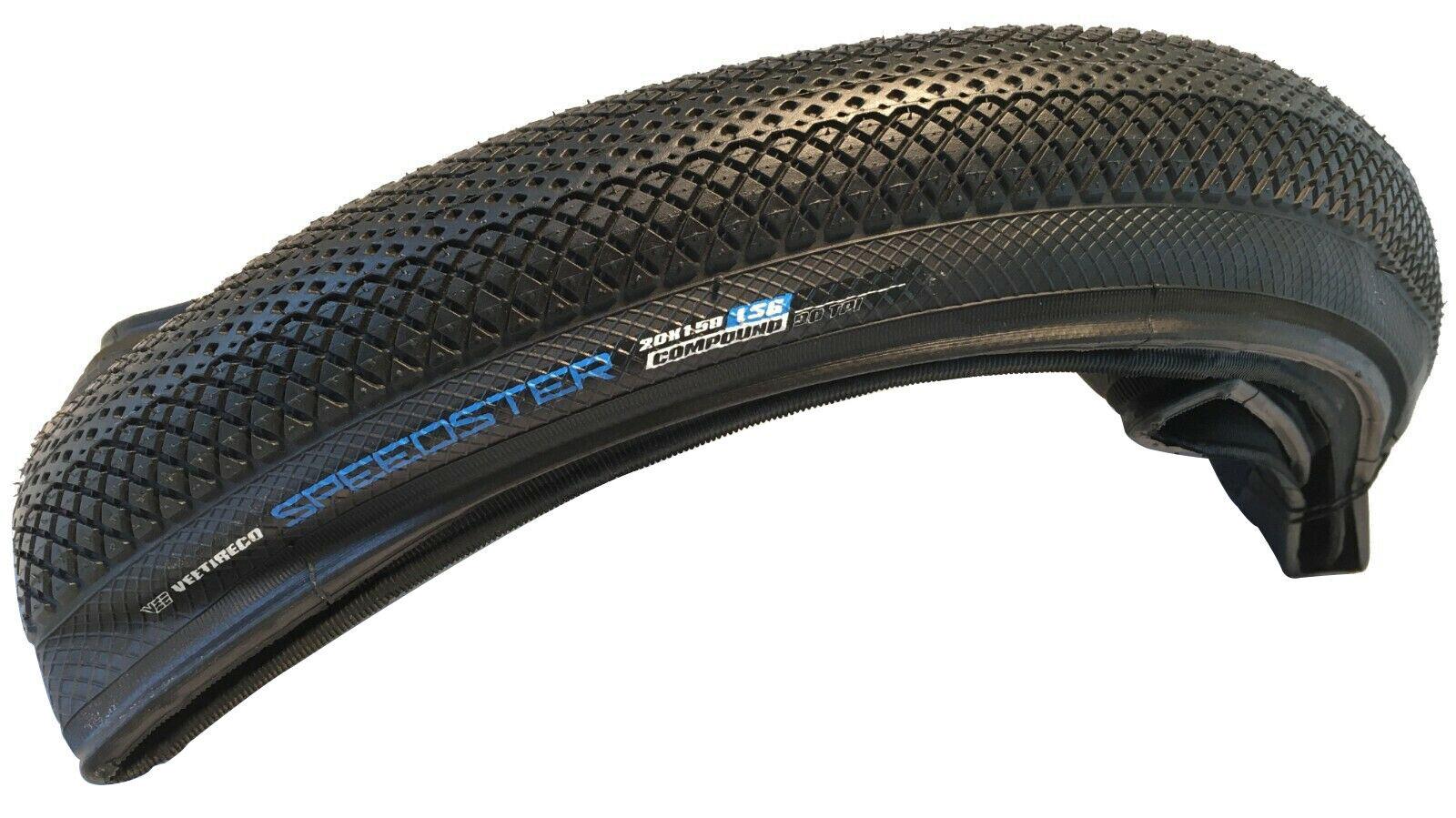 Speed Booster Tire Vee Tire Co 20 x 1 3//8 Clincher Folding Black 90tpi
