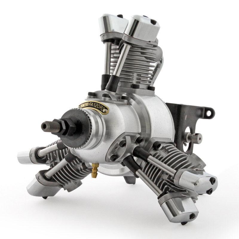 Saito-fa-120r3 - 3-cylinder radial engine RC Galaxy