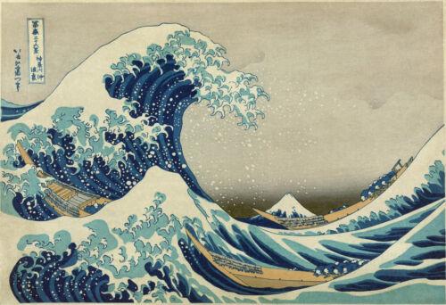 E214 Katsushika Hokusai The Great Wave off KanagawaSizes A4  to A0 UK Seller