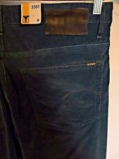 G-Star Raw, 3301, Neutral, teal, slim-tapered, corduroy pant, stretch, s. 33 38