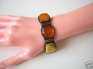 Bernstein Leder Armband Mit Honig & Butterscotch Natur Bernsteinen 26,8 G Amber Hitze Und Durst Lindern.