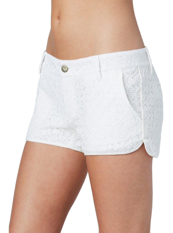 Roxy Woman High Seas Eyelet Ivory Lace Shorts Sz 25, 26, 27, 28, 29, 30