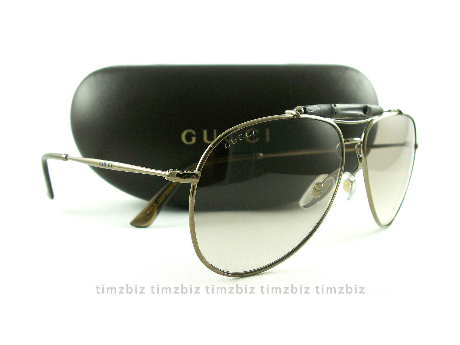 122d4856c02b7 Gucci Sunglasses GG 2235 s 1jflp Brown Bamboo Aviator Authentic for ...