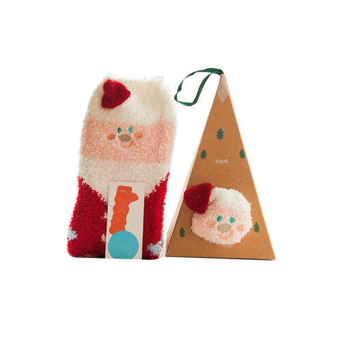 1Paar Mann Damen Kinder Carton Tier Socken Weihnachten 3D Winter Warm Neu