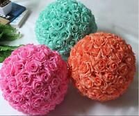 Pink Rose Flower Ball Wedding Decoratin Ball Kissing Ball 6 Inch