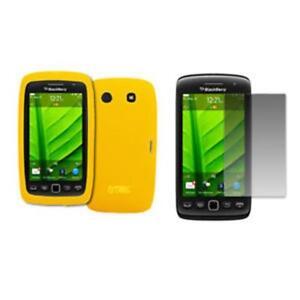 for-BlackBerry-Torch-9860-Case-Gel-Yellow-Screen-Guard