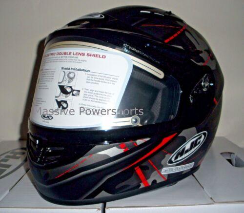 HJC CS-R3 Songtan Electric Snowmobile Helmet Camo Gray w// Red L LG Large CS-R3SN
