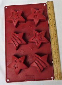 6 Fancy Stars Soap Mold