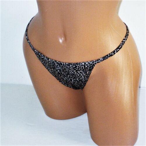 Details about  /Victoria/'s Secret Cotton V-String Thong Panty M L XL Beige Black Leopard NWT