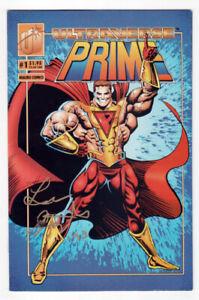 Malibu-Ultraverse-Prime-1993-1-SIGNED-by-Len-Strazewski-VG-Coupon-Intact