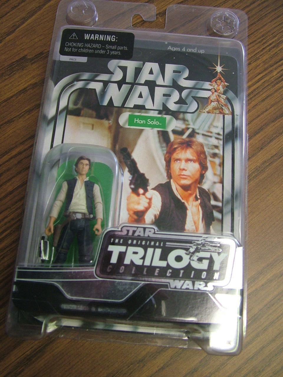 Star wars  original - trilogie sammlung - han solo 2004 - versiegelt