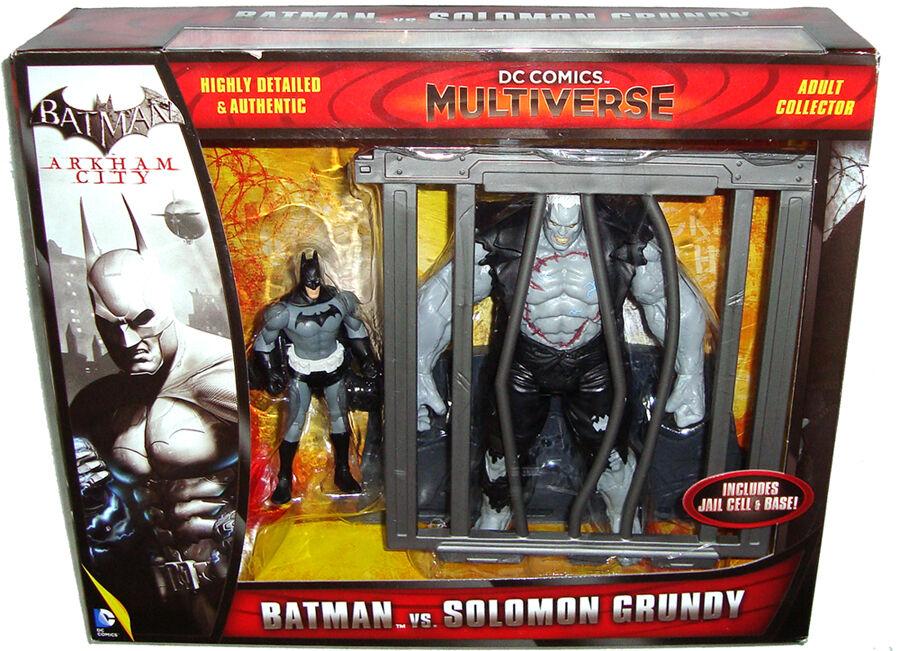 Arkham City Batman Vs Solomon Grundy Figures Box Set MIB DC Comics Multiverse
