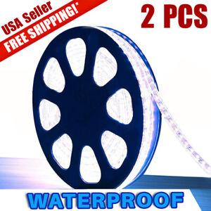 2X-Super-Bright-Cool-White-3528-SMD-LED-Waterproof-Strip-Light-300-LEDs-DC-12V