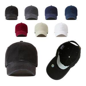 Unisex-Mens-Womens-NY-Vintage-Washed-Out-Blank-Plain-Baseball-Cap-Trucker-Hats