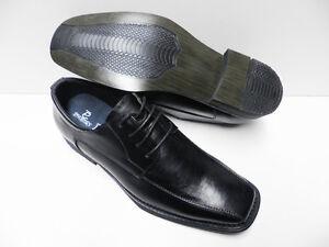 Chaussures-de-ville-noir-pour-HOMME-taille-44-costume-mariage-NEUF-TS-2968