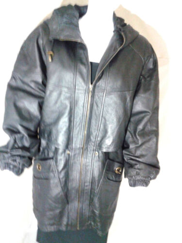 G III Leather Trench Coat Womens Black Leather Tre