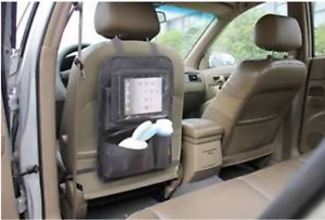Apramo-Tablet-Back-Seat-Organiser-Car-Seat-Protector-Objects-Holder-amp-Storage