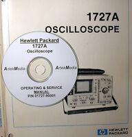 Hp Hewlett Packard 1727a Oscilloscope Operating & Service Manual