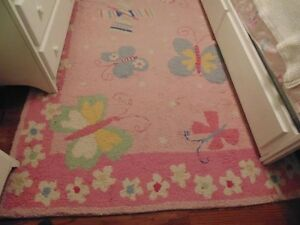 Extremely Rare Pottery Barn Kids Sophie Butterfly 5x8 Wool