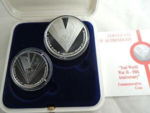 1995-End-WWII-50th-Anniversary-Victory-Over-Nazi-039-s-PR-BU-Silver-Coins-COA-box
